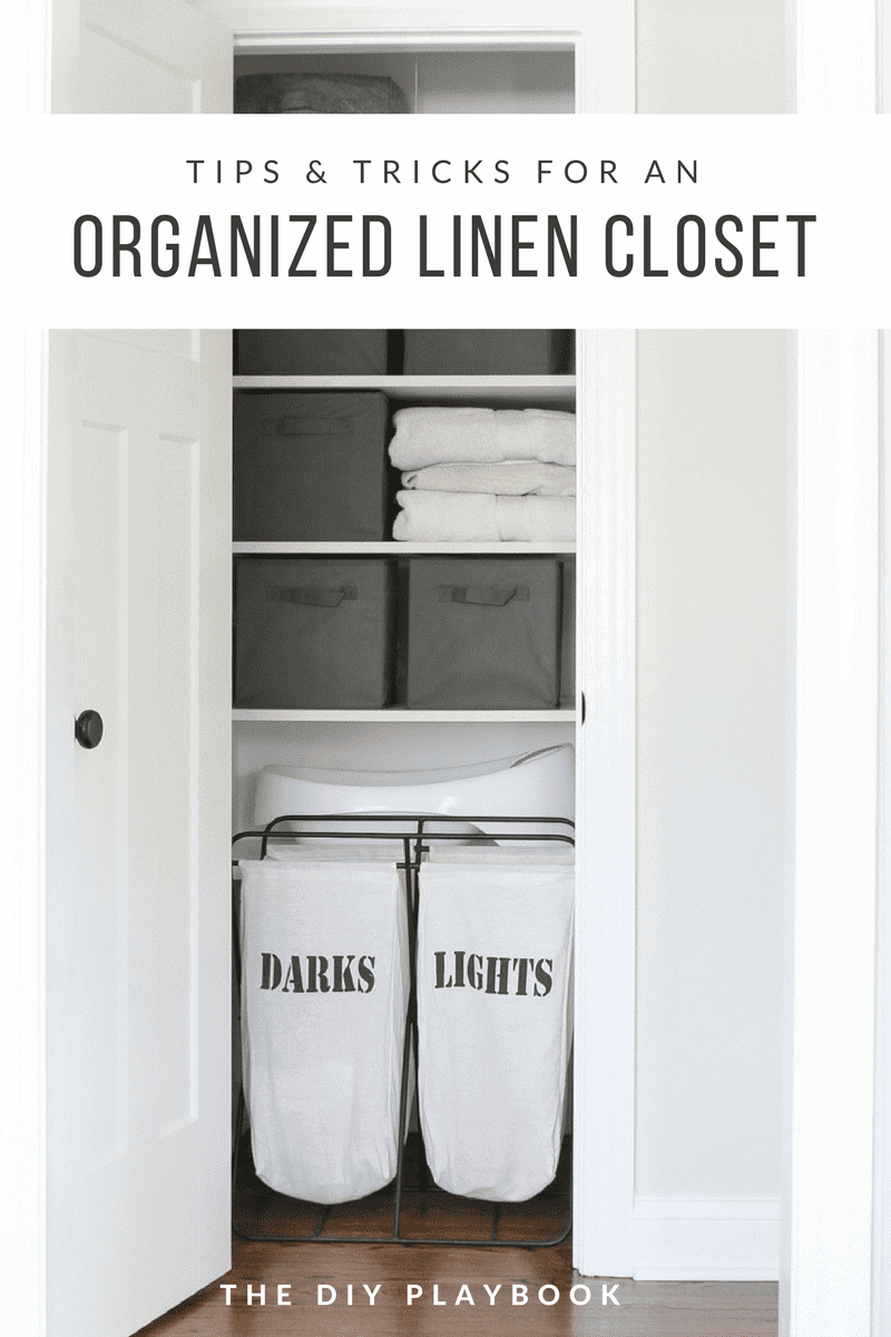 Organizing A Linen Closet With 3 Bins The Diy Playbook