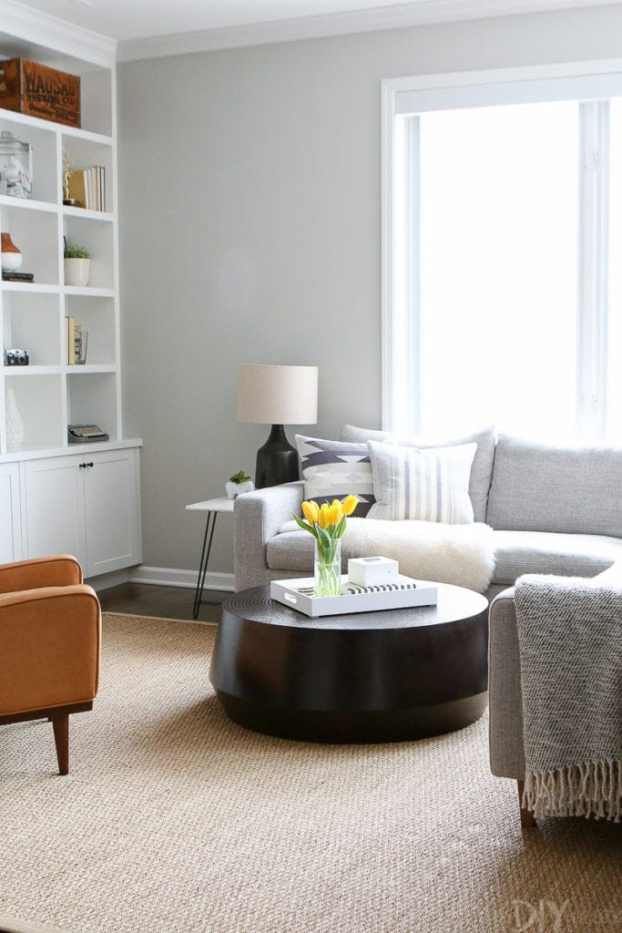 The black udan coffee table from crate and barrel