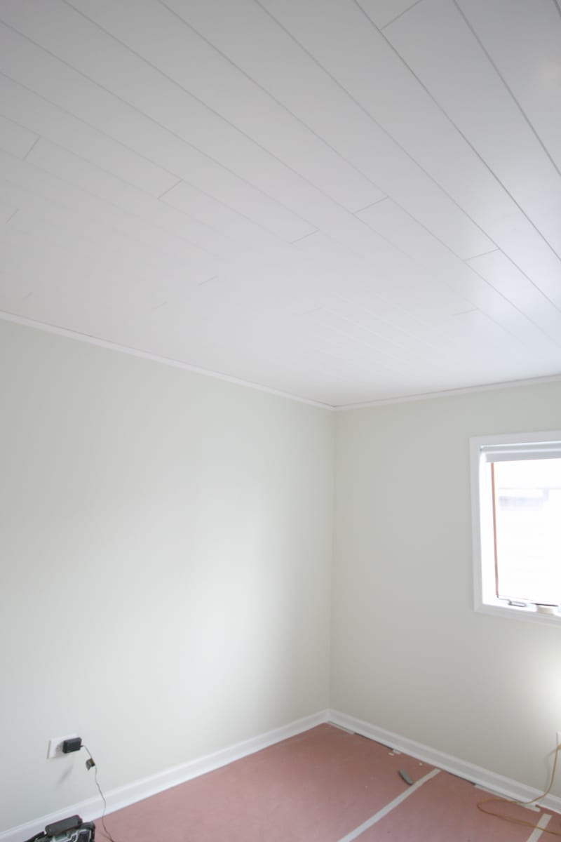 Hide the texture of popcorn ceilings with easy DIY ceiling planks from Armstrong Ceilings.
