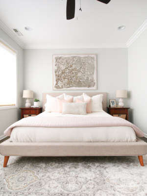 Feminine & Blush Bedroom in the City