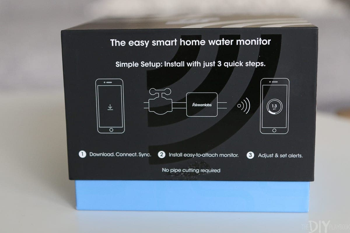 The streamlabs smart home water monitor is easy to install in just 3 steps