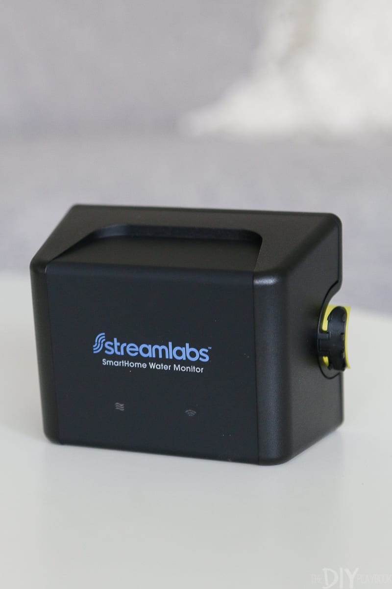 You simply attach the streamlabs smart home water monitor to your home's main water supply line