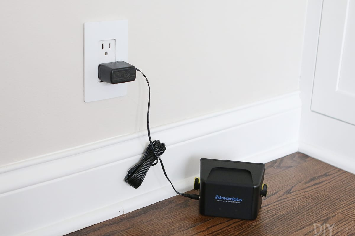 Plugging in the smart home water monitor