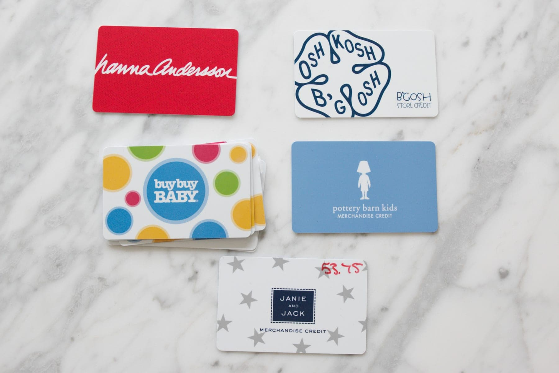 group gift cards by type