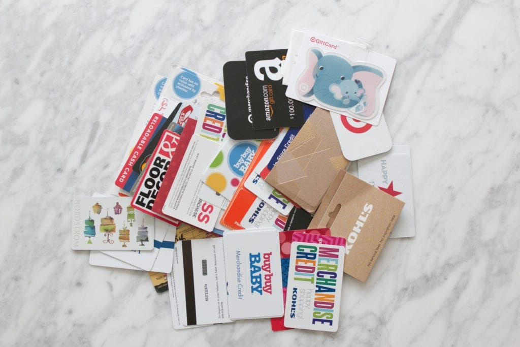 Collect gift cards to use during Frugal February 2019