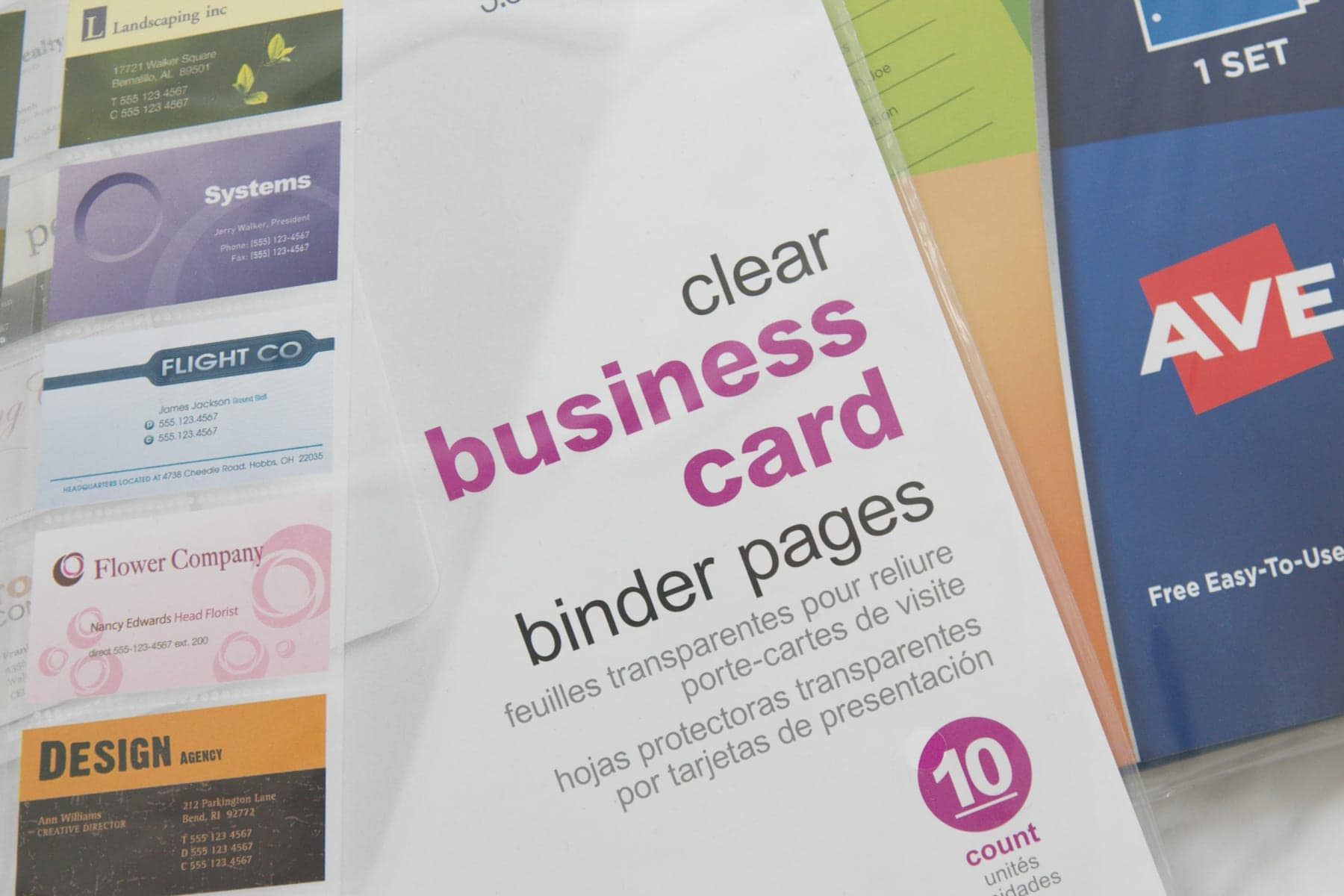 business card organizers to organize gift cards
