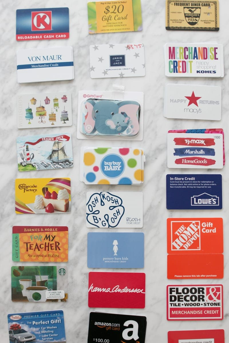how to organize gift cards quickly