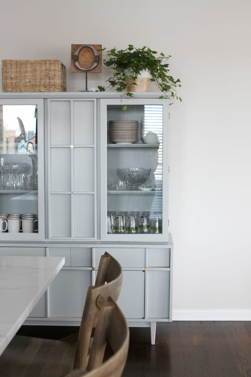 Store your dishes in a hutch off your kitchen