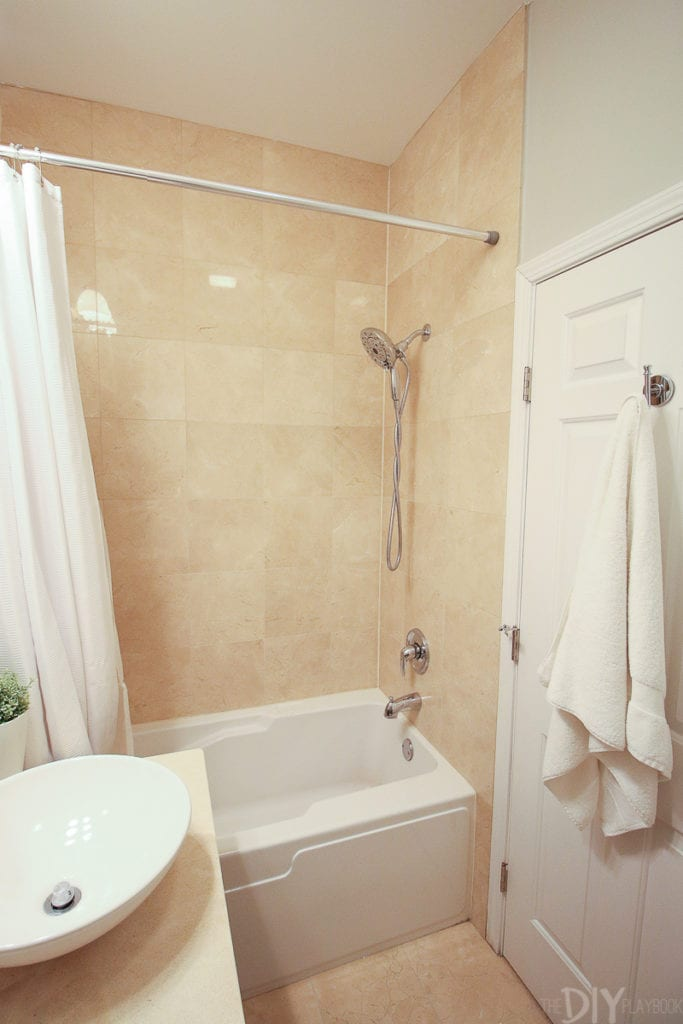 Shower before a bathroom makeover