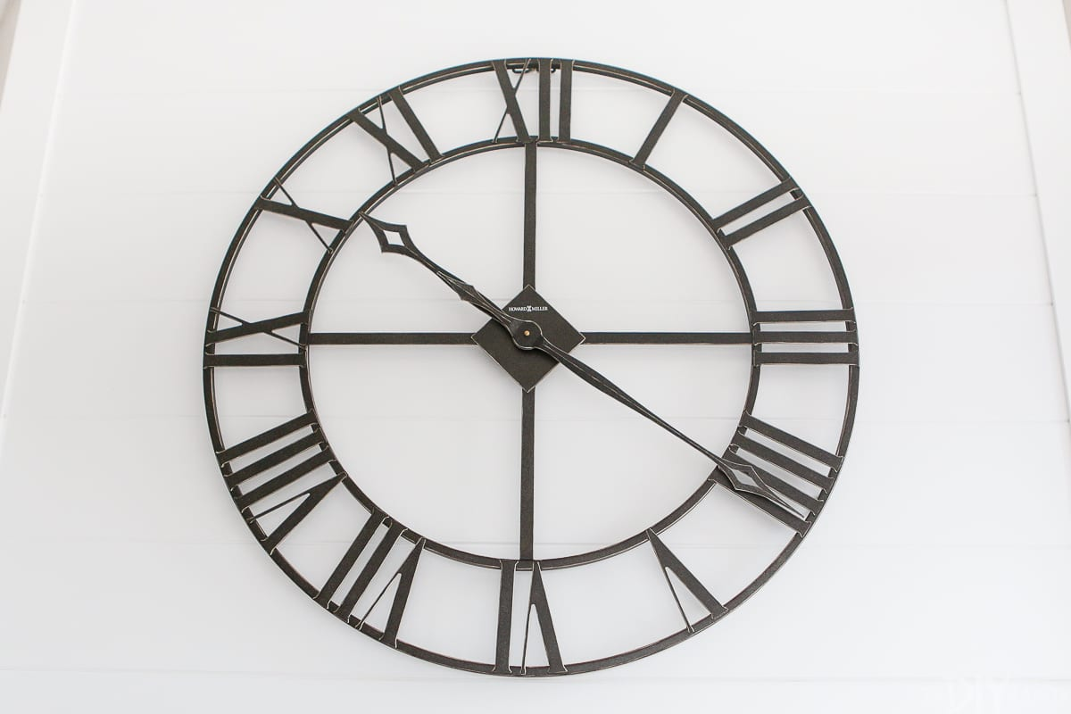 Industrial black clock
