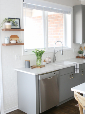 White And Gray Kitchen in the City