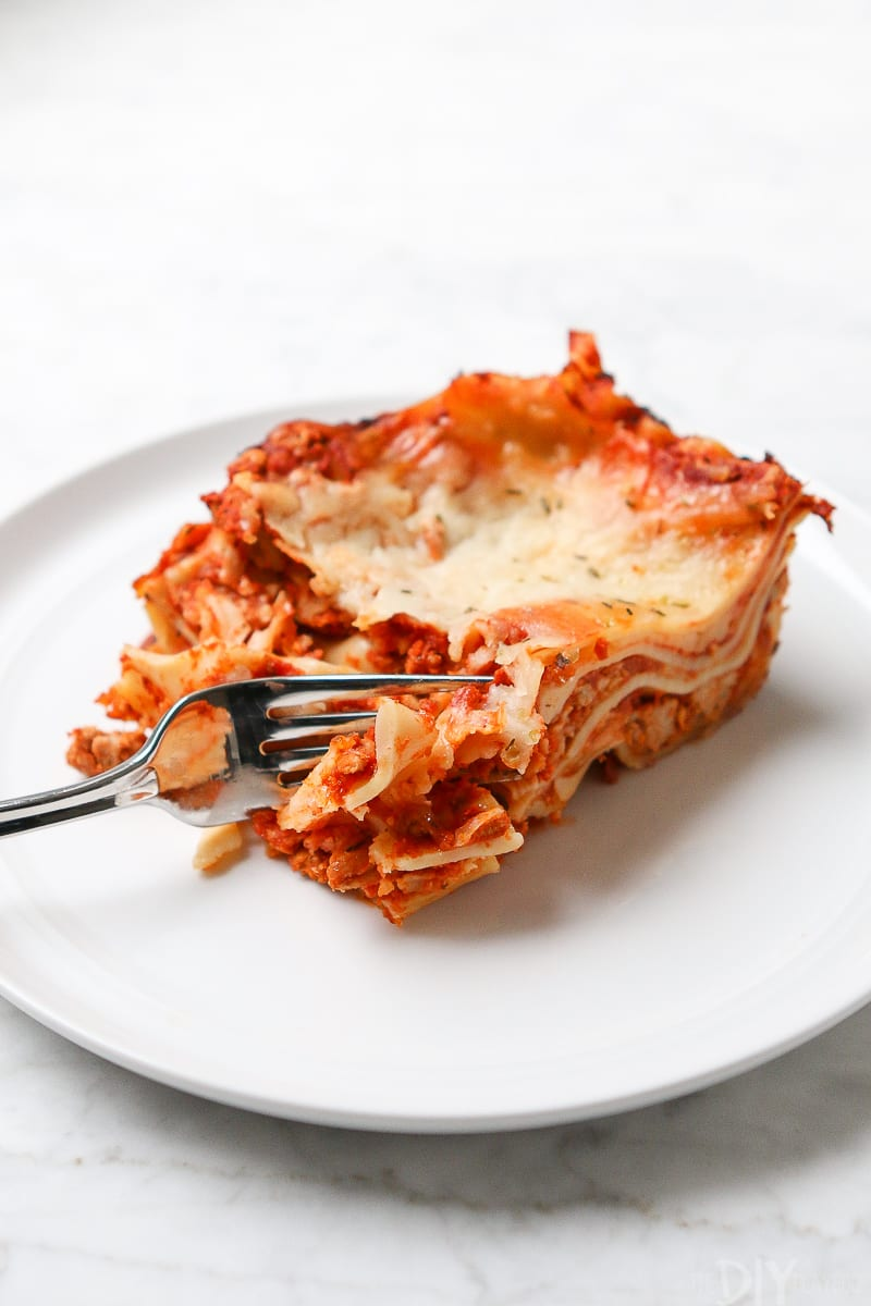 You'll want to dig in and eat this delicious family lasagna