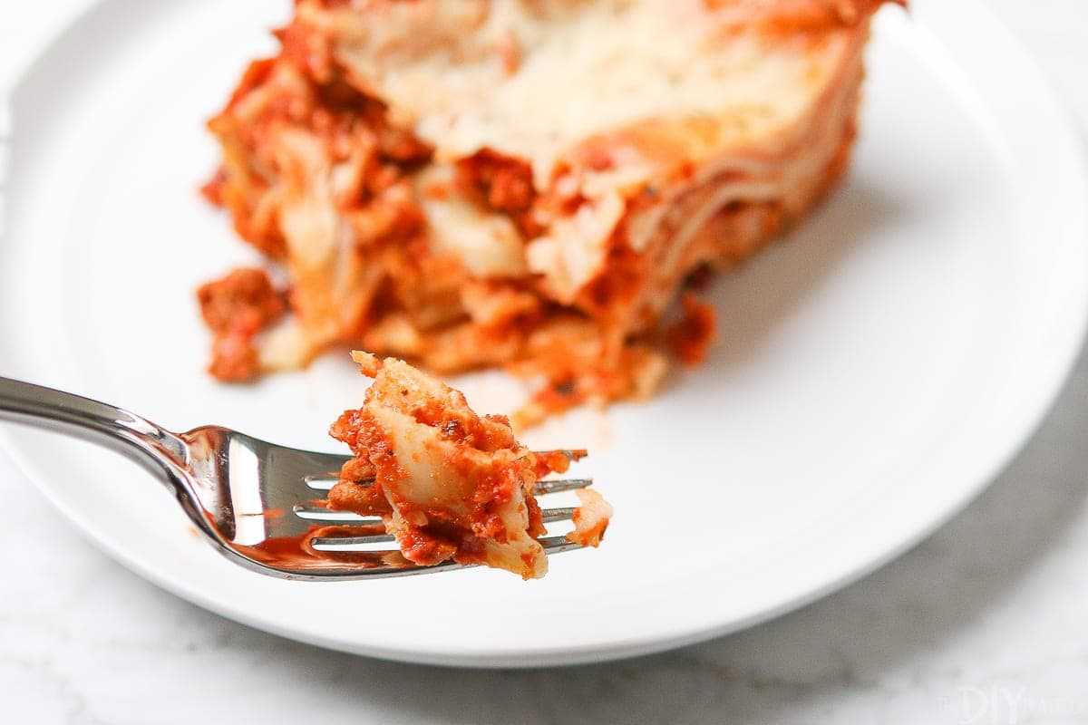 You'll want to take a bite of this family lasagna recipe!