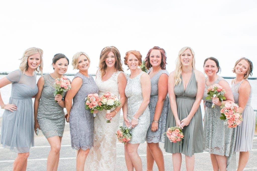 New Buffalo Wedding with Gray Dresses
