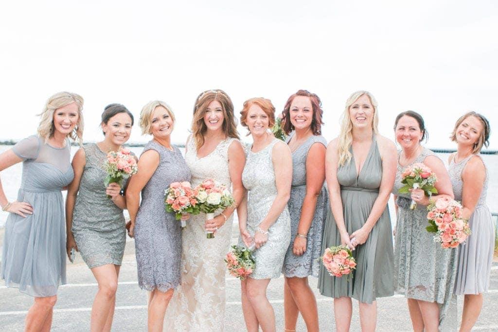New Buffalo Wedding with Gray Dresses