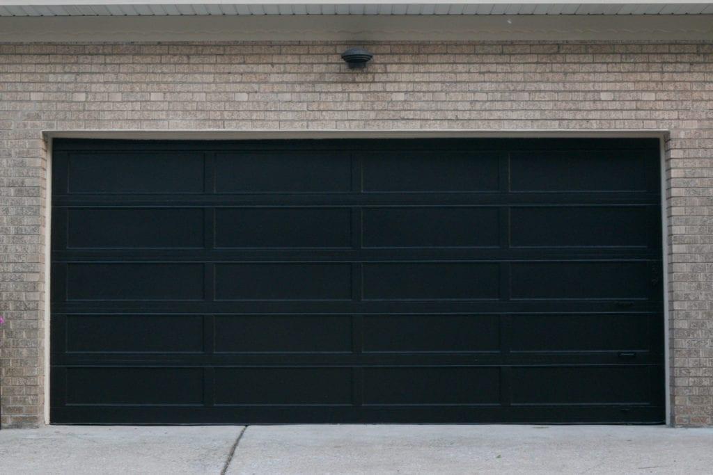 painting an old wood garage door black