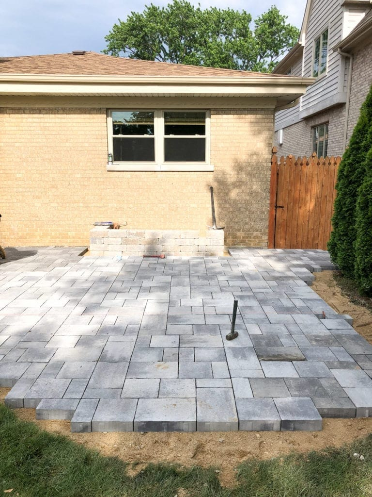 gray patio pavers