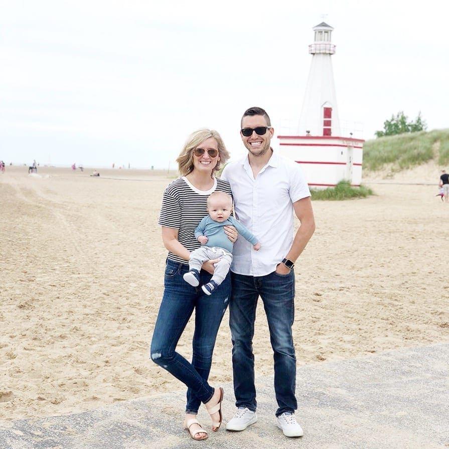 family photo in New Buffalo