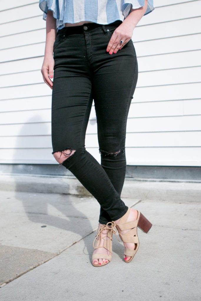 black ripped jeans from nordstrom