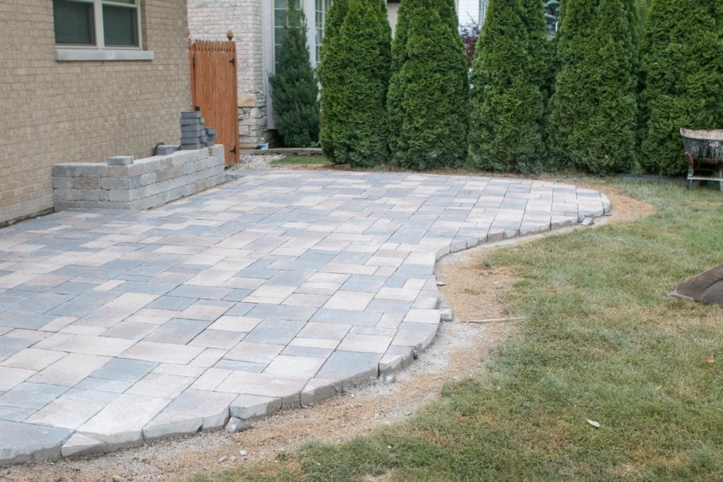 patio pavers in multi-colors