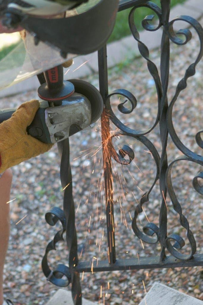 grinding down railing spirals