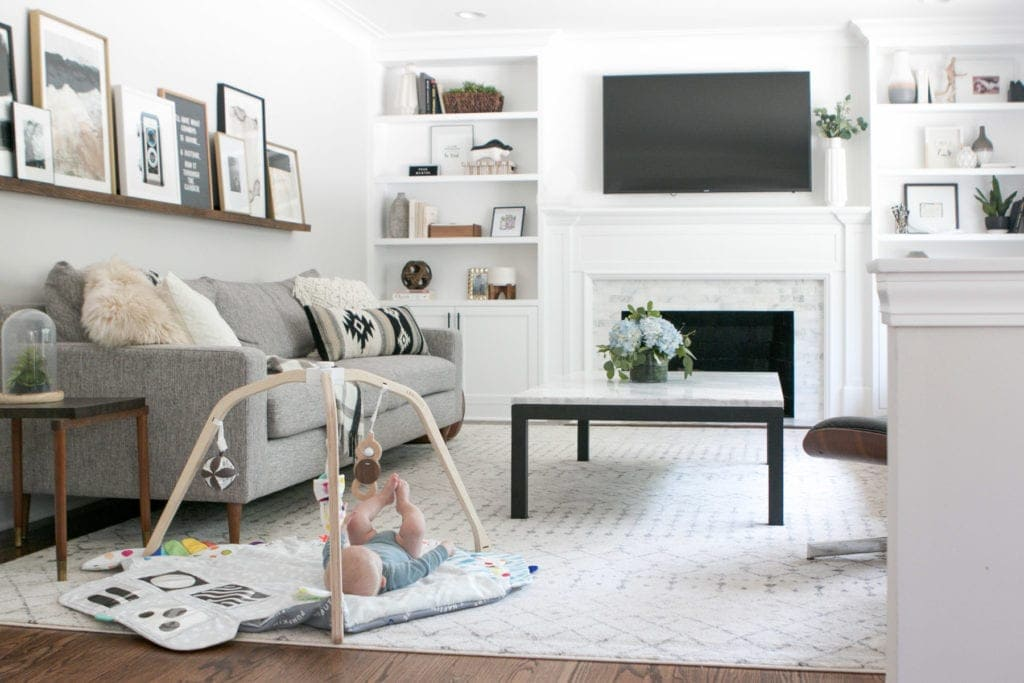 honest review of cream rug in the family room