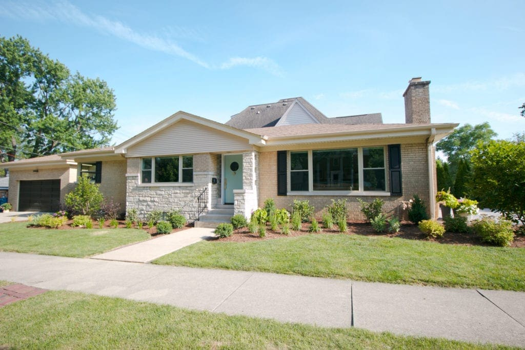 This home got a curb appeal upgrade with new landscaping