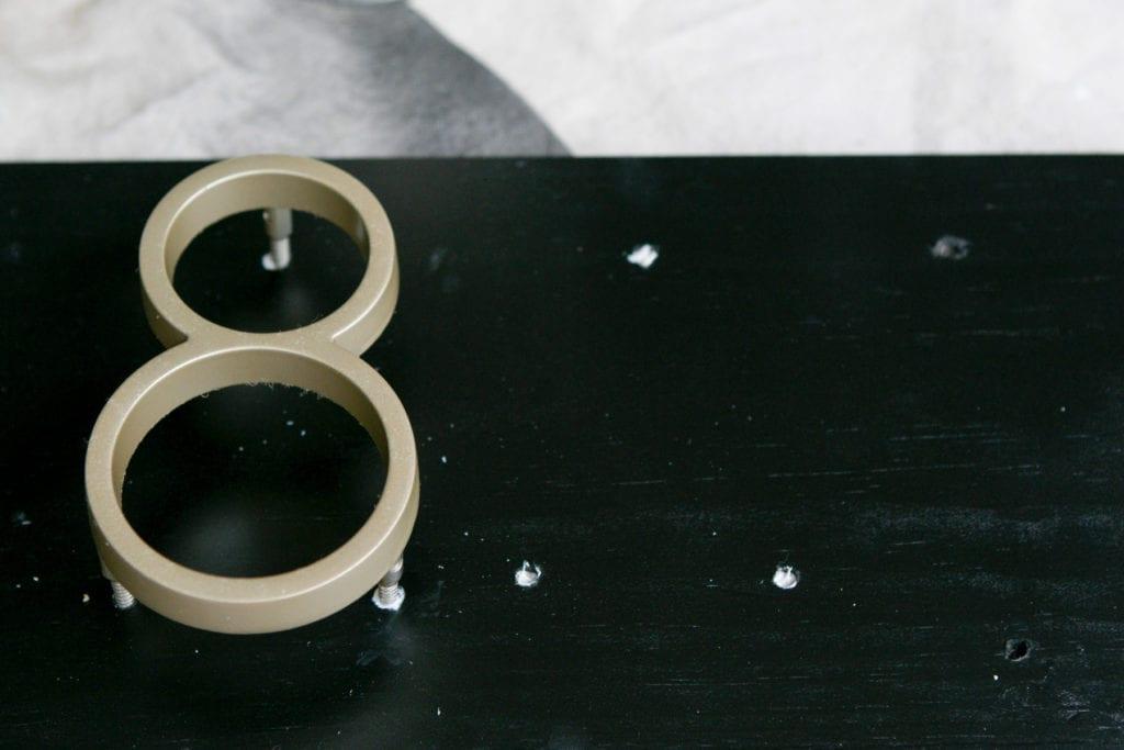 Adding silicone to DIY address plate