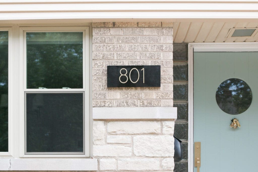 A new address plate to increase curb appeal