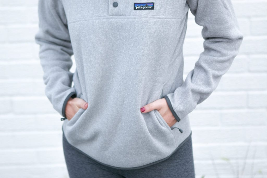 fall patagonia pullover with pockets