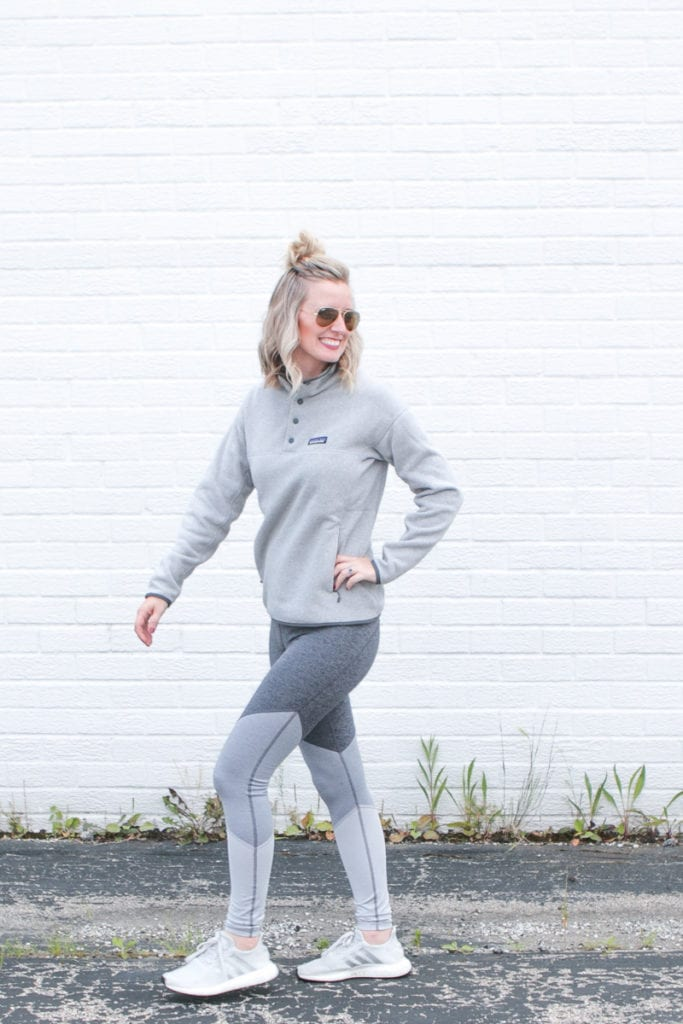 athleisure wear for the fall with patangonia