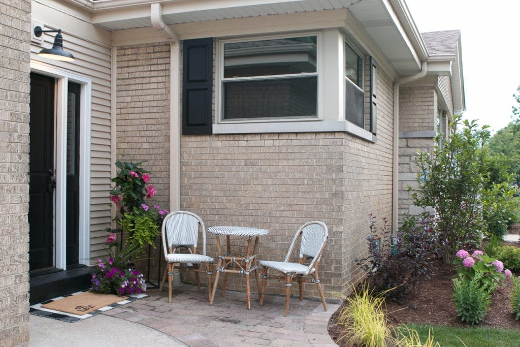 finding a small furniture set for a tiny patio