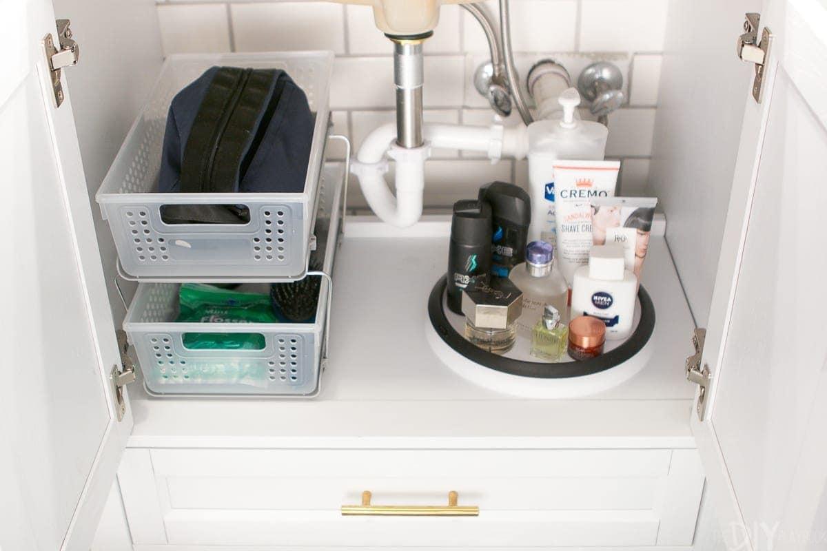 Getting organized under the bathroom sink