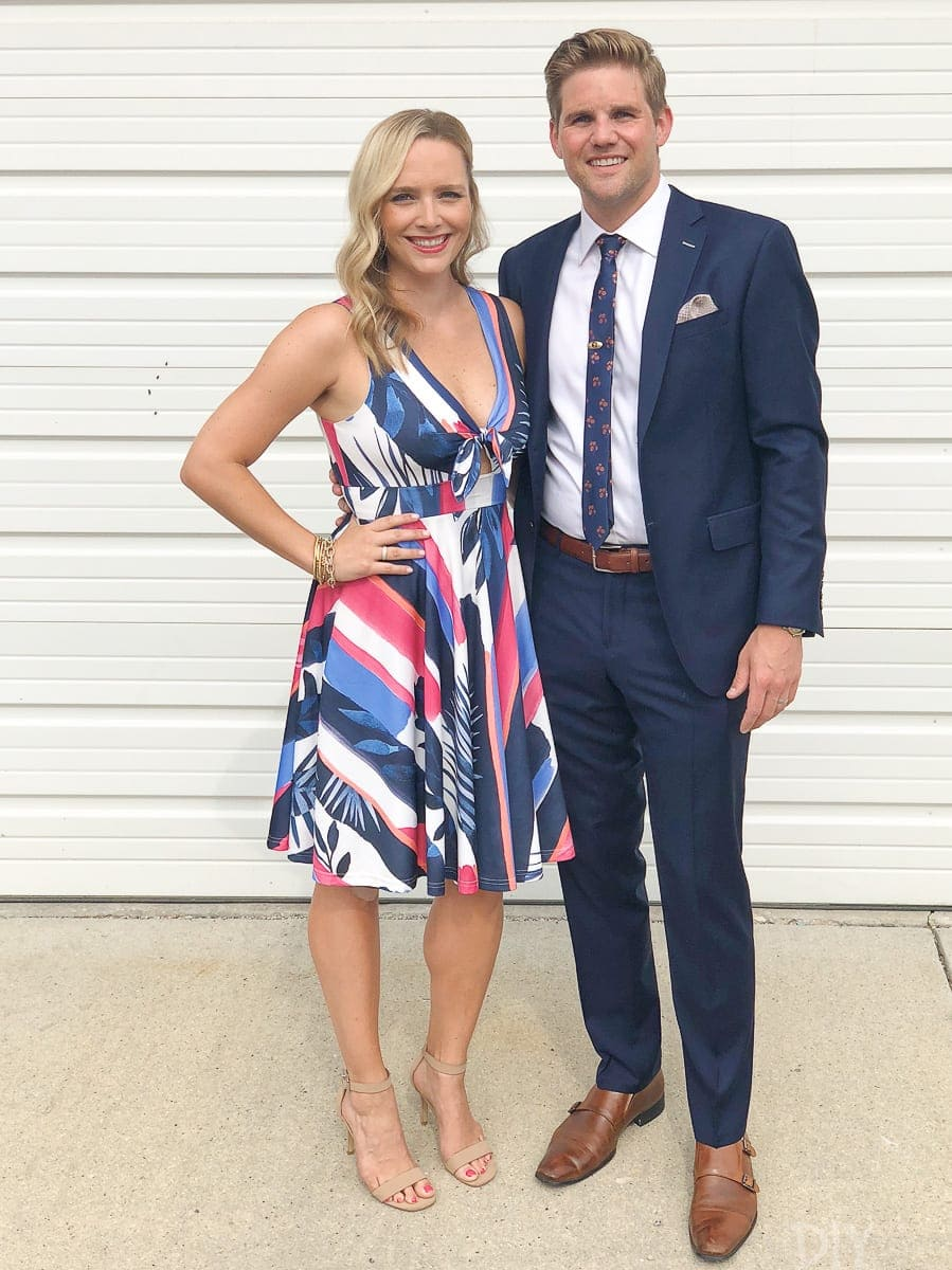 Casey and Finn wedding attire