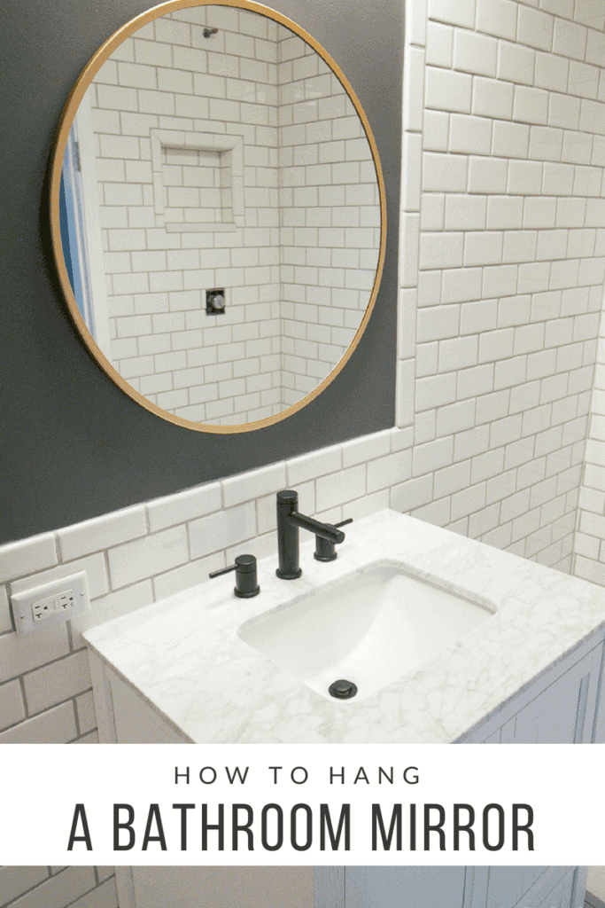 How to hang a bathroom mirror with an anchor and screw