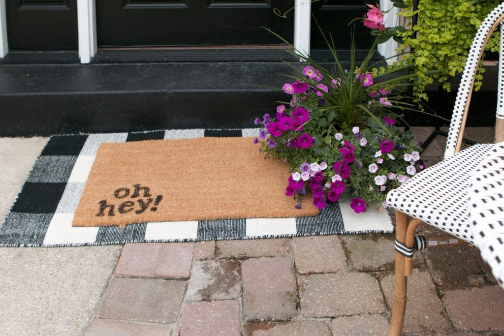 how to personalize a doormat