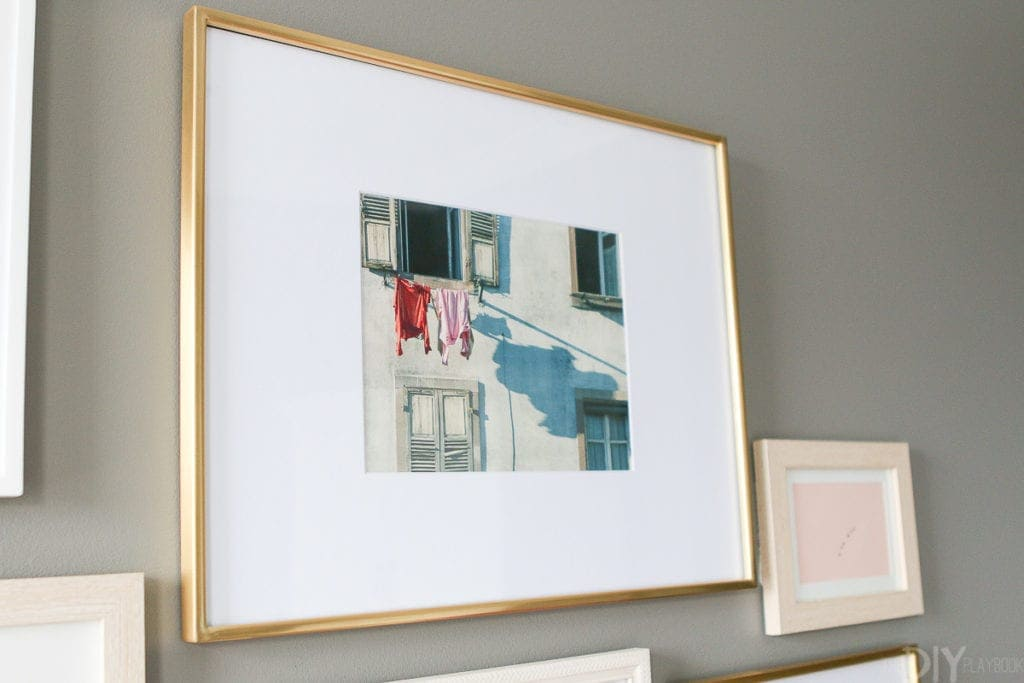 Brass frame from West Elm with a Minted print