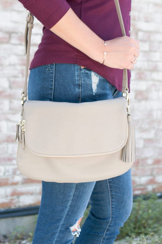 This crossbody bag is one of my favorite fall staples.