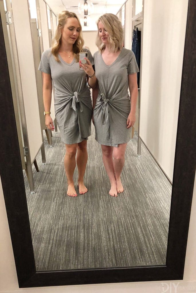 Tie-front t-shirt dress from Nordstrom