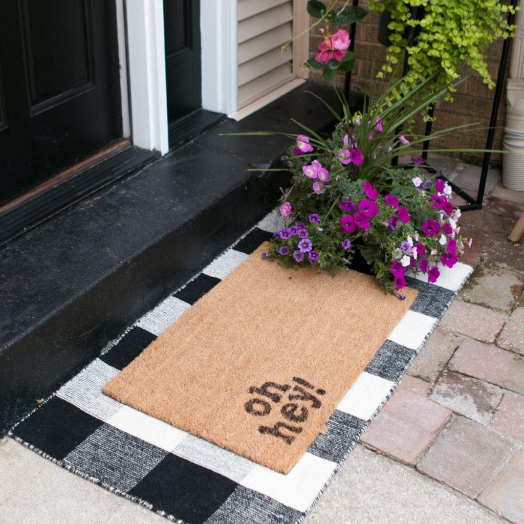 diy doormat for better curb appeal