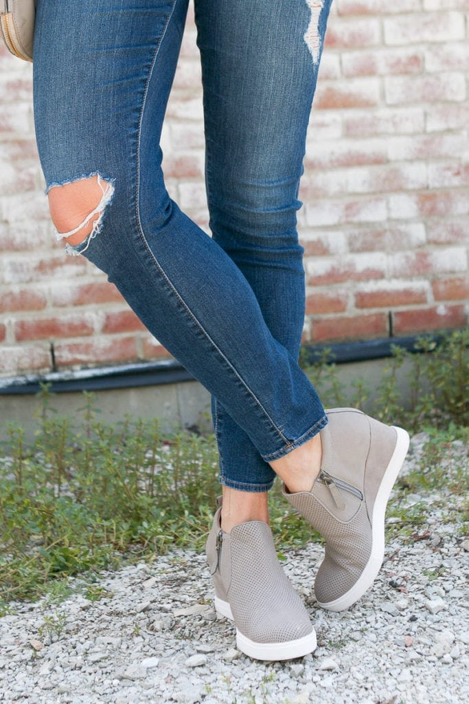 Sneaker wedges are comfortable, yet stylish for the everyday