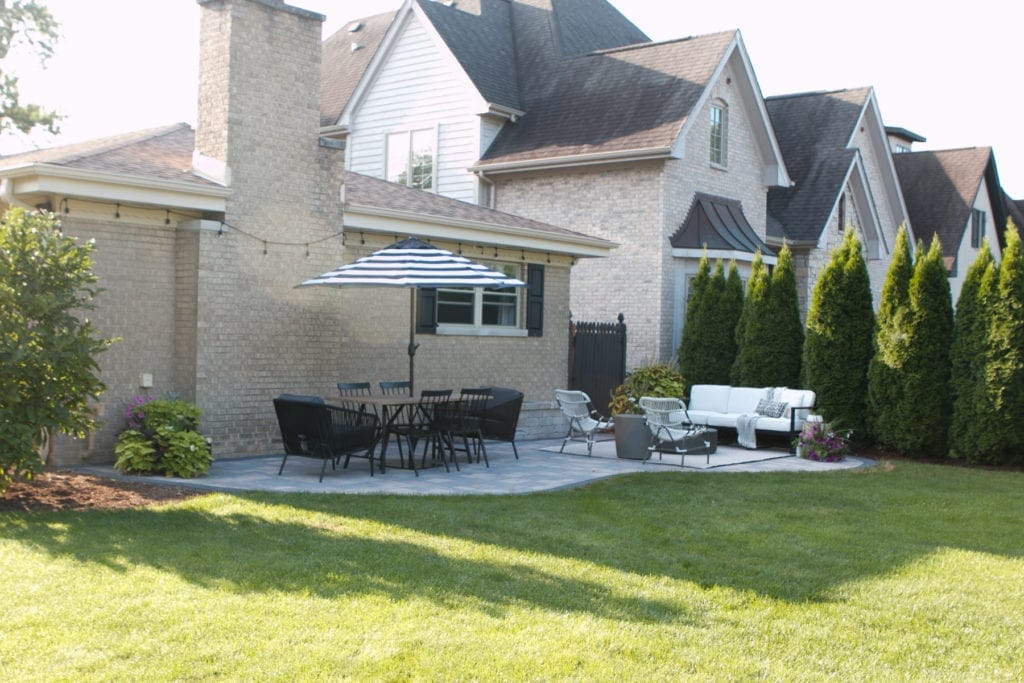 a dramatic before and after outdoor makeover