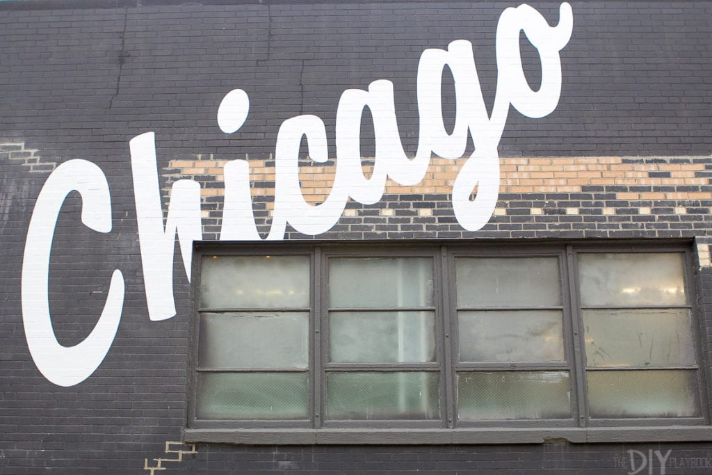 Chicago sign outside Create & Cultivate event
