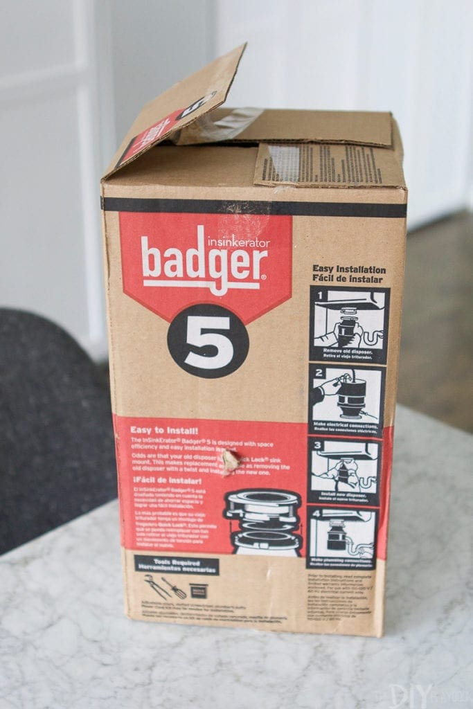 Insinkerator badger 1/2hp garbage food waste disposer
