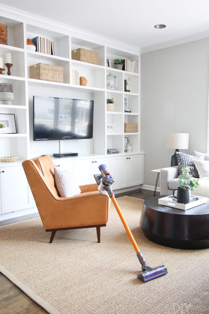 Using a dyson vacuum to clean
