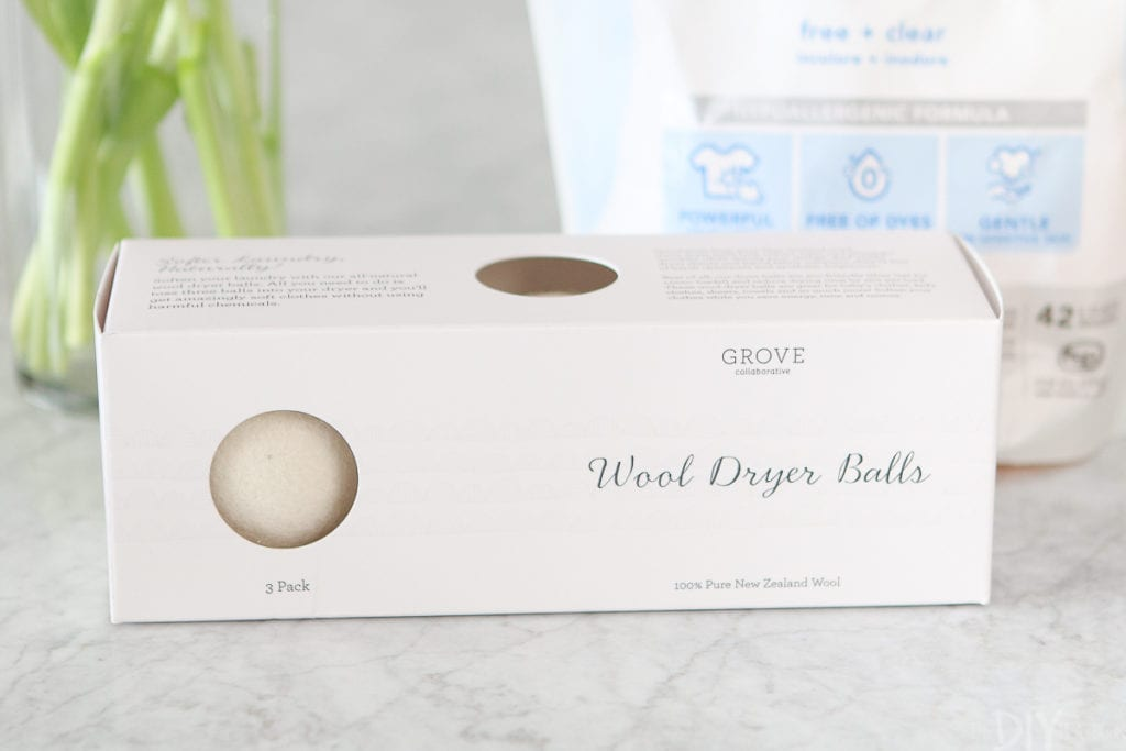 Using wool dryer balls to do laundry