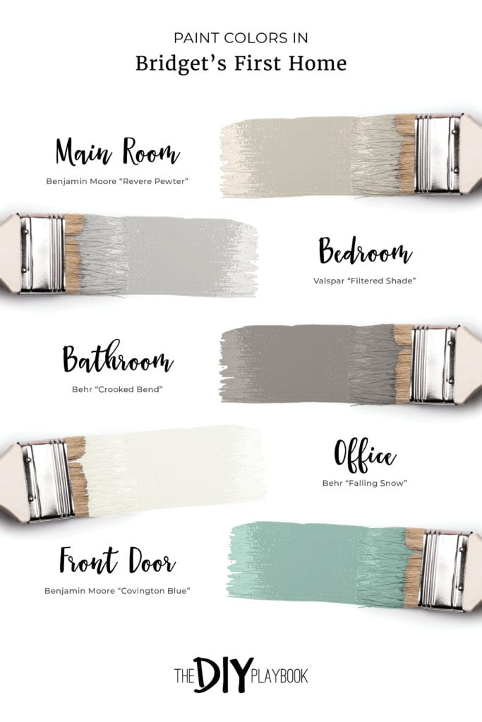The paint colors in Bridget's first home
