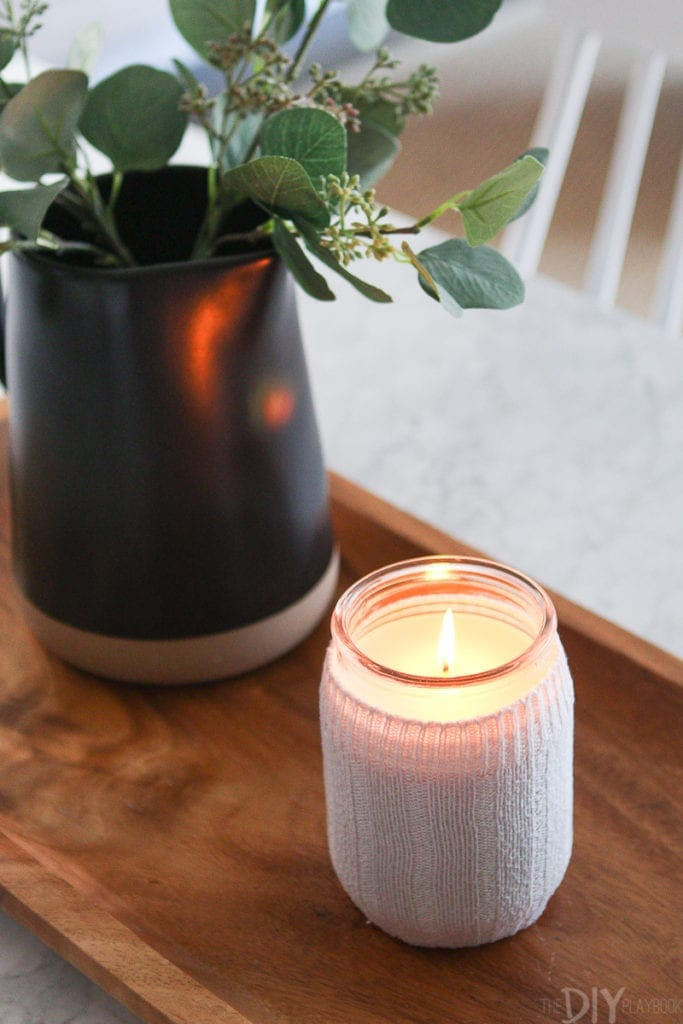 how to make a fall candle holder