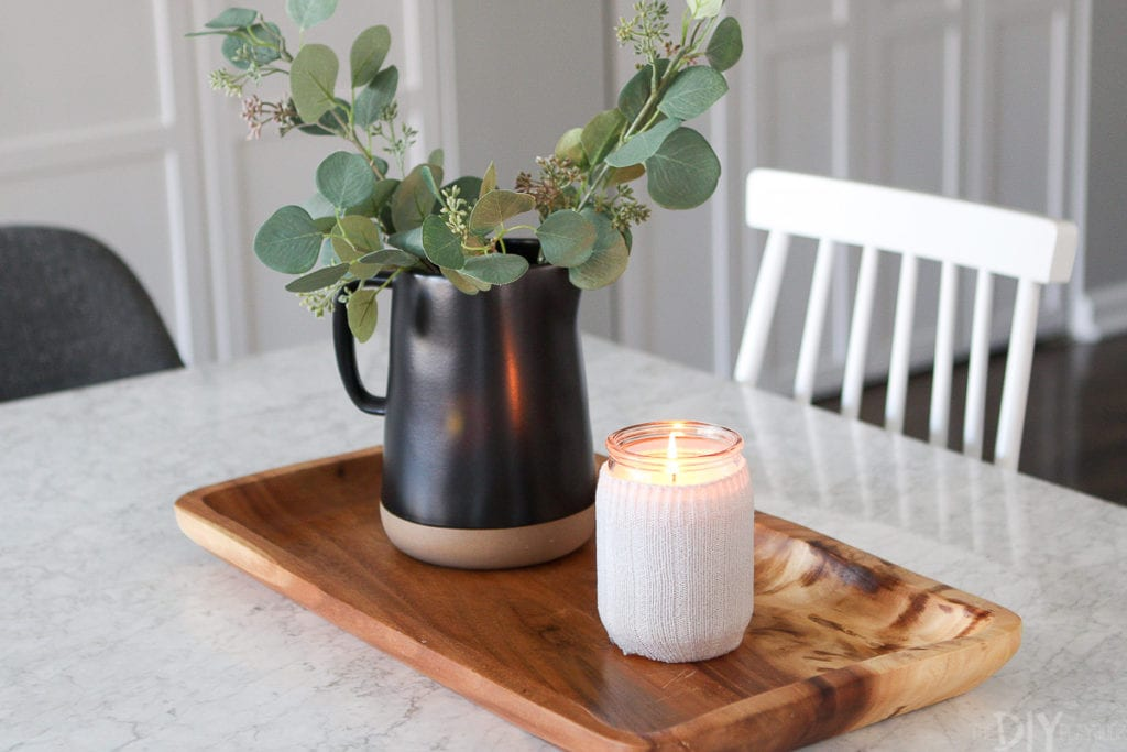 How to make a fall candle holder for autumn home decor