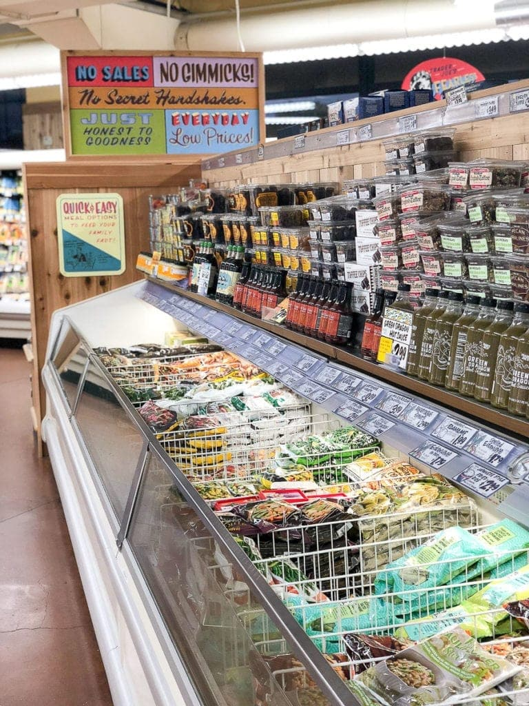 frozen food aisle at trader joe's